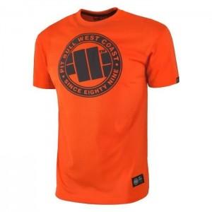 Pit Bull Chest Logo, Orange - Bawełniana koszulka na trening