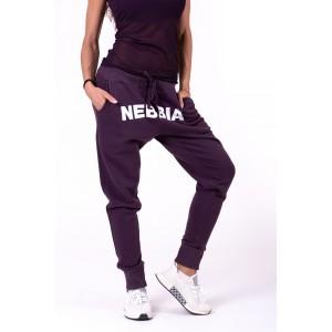 NEBBIA Street Drop Crotch Pants 274,Burgundy - Spodnie dresowe damskie