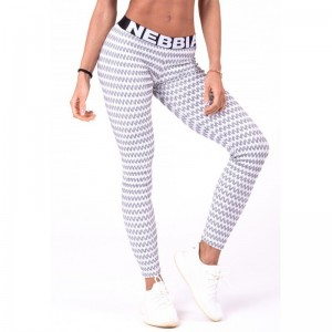 NEBBIA Boho Style 3D Pattern Leggings 658, Light Grey - legginsy damskie