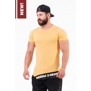 NEBBIA Be rebel! T-shirt 140, Mustard - Stylowa koszulka na trening