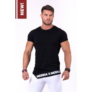 NEBBIA Be rebel! T-shirt 140, Black - Stylowa koszulka na trening