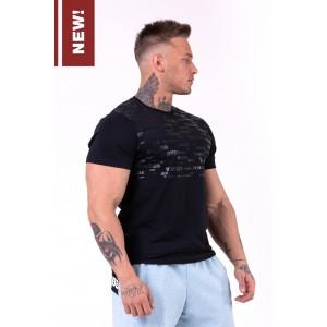 NEBBIA More than basic! T-shirt 145, Black - Logowana koszulka męska