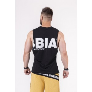 NEBBIA Black To The Hardcore Tank Top 144, Black - Luźna bokserka na trening
