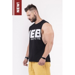 NEBBIA Black To The Hardcore Tank Top 144, Black - Luźna bokserka na trening