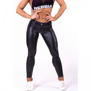 "NEBBIA Bubble Butt Pants ""Cat Woman"" 669, Black - Spodnie damskie"