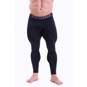 NEBBIA HardCore Leggings 315, Black - Męskie legginsy treningowe