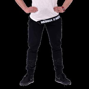 NEBBIA Gym Hero Joggers 153, Black - Męskie spodnie dresowe