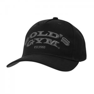 Gold's Gym Text Curved Peak Cap, Black - Klasyczna czapka z daszkiem