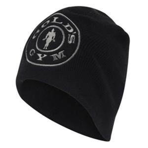 Gold's Gym Beanie, Black - klasyczna czapka męska