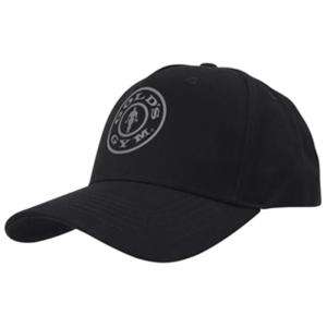 Gold's Gym Cap, Black - Klasyczna czapka z daszkiem
