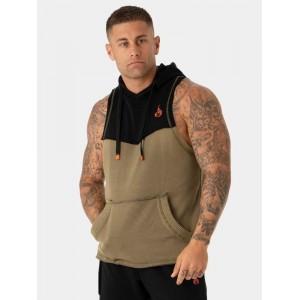 Ryderwear Utility Sleeveless Hoodie Tank,Khaki - Bezrękawnik męski