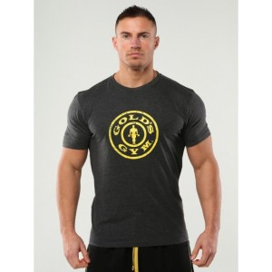 GOLDS GYM PLATE LOGO PREMIUM CTREW T-SHIRT