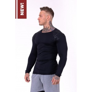 NEBBIA Hero compression shirt 146, Black - bluzka męska