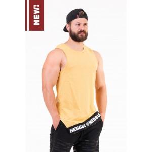 NEBBIA Be rebel! singlet 141, Mustard - koszulka męska