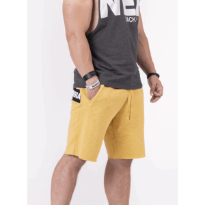 NEBBIA Be rebel! shorts 150, Mustard - spodenki męskie