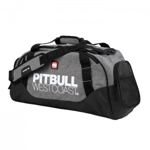 Pit Bull TNT Sports Bag, Black/Grey - Torba sportowa