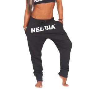 NEBBIA Street Drop Crotch Pants 274 Black - Spodnie dresowe damskie