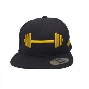 Czapka BARBELL Gold Edition gymwear - snapback dla każdego miłosnika siłowni