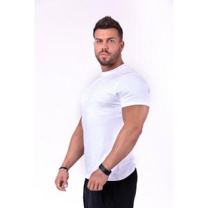 NEBBIA More than basic! T-shirt 145,white - Logowana koszulka męska