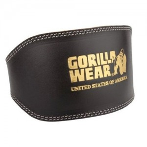 Full Leather Padded Belt Black - Pas kulturystyczny Gorilla Wear U.S.A