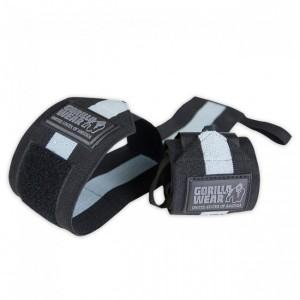 Hardcore Wrist Wraps Black/Grey - taśmy na nadgarstki usztywniacze !!! Gorilla Wear U.S.A
