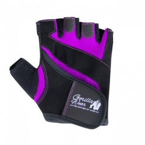 Women's Fitness Gloves Black/Purple - rękawiczki damskie treningowe Gorilla Wear U.S.A