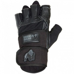 Dallas Wrist Wrap Gloves Black - rękawiczki treningowe Gorilla Wear U.S.A