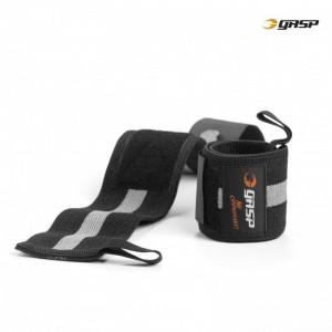 1RM Wrist Wraps, BLACK/GREY - opaski na nadgarstki GASP