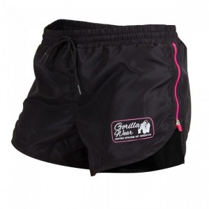 Womens New Mexico Cardio Shorts Black/Pink - spodenki damskie Gorilla Wear U.S.A