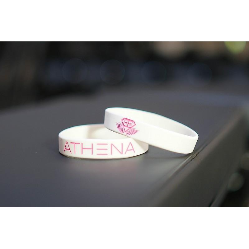 BODY ENGINEERS ATHENA Bracelet – White opaska sylikonowa