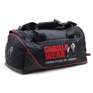 Jerome Gym Bag - Black/Red torba do treningu Gorilla Wear U.S.A