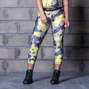LBM  Legging Cross Training Run Dangerous - legginsy moro damskie Labellamafia