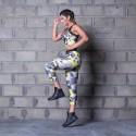 LBM Legging Cross Training Run Dangerous - legginsy moro damskie Labellamafia