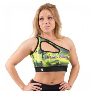 Reno Sports Bra - Yellow krótki top damski Gorilla Wear USA