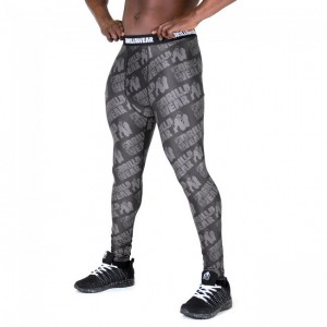 San Jose Men's Tights - Black/Gray legginsy męskie sportowe