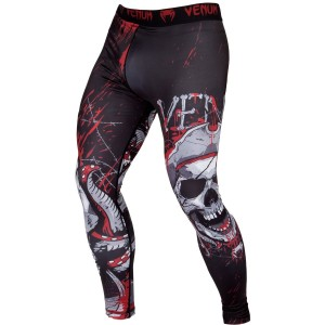 VENUM Pirate 3.0 Spats, BLACK/RED - męskie legginsy treningowe