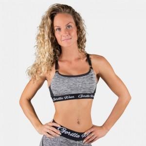 Aurora Bra - Mixed Gray krótki sportowy top fitness Gorilla Wear