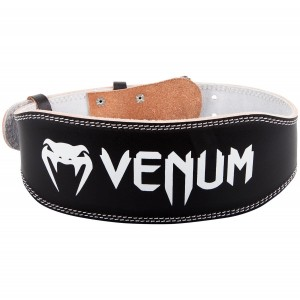 VENUM HYPERLIFT LEATHER WEIGHTIFTING BELT - BLACK pas wzmacniający do treningu