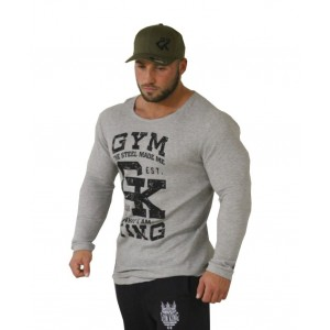 Gym King Long Shaped Thermo Longsleeve - bluzka treningowa