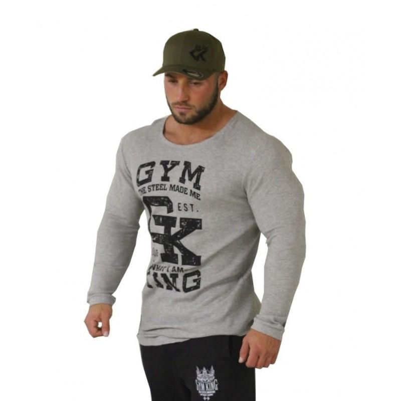 Gym King Long Shaped Thermo Longsleeve - bluzka treningowa