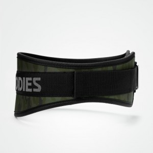 BETTER BODIES Camo gym belt, Dark camo - pas wzmacniający do treningu
