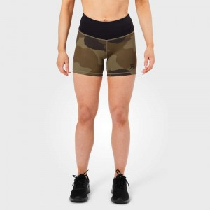 Chelsea hotpants, Dark green camo krótkie spodenki moro fitness Better Bodies