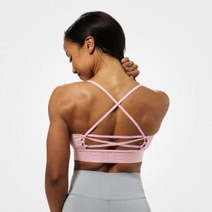 Chelsea sports bra, Pale pink krótki różowy top fitness NOWOŚĆ Better Bodies