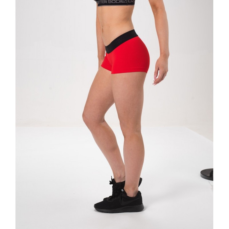 Fitness hotpant, Scarlet red krótkie spodenki treningowe NOOWOŚĆ Better Bodies