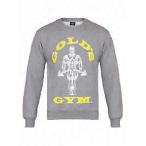 Golds Gym Muscle Joe Crew Neck Sweater, Grey - bluza męska sportowa