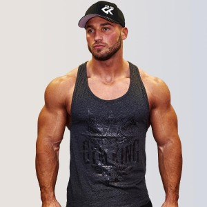 Gym King Stringer Tank Top Bodybuilding Tank, Charcoal