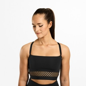 Waverly mesh bra, Black - top z siatką Better Bodies
