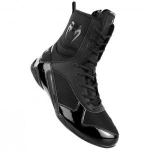 Venum Elite Boxing Shoes, Black/Black - Obuwie sportowe do sztuk walki