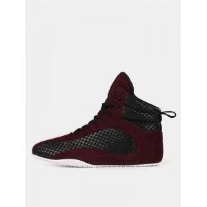 Ryderwear D-Mak Carbon, Burgundy - Wysokie buty na trening