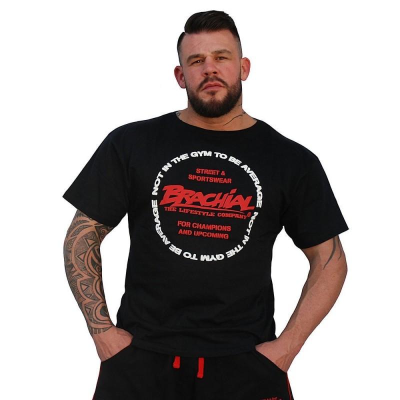 Brachial T Shirt Style czarna bawełniana koszulka na trening